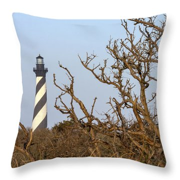 Cape Hatteras Lighthouse Through The Brush Throw Pillow