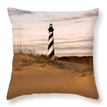 Cape Hatteras Lighthouse Throw Pillow by Tony Cooper