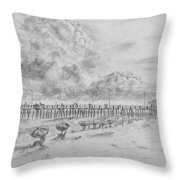 Cape Hatteras Summer Day Throw Pillow