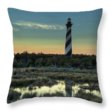 Cape Hatteras Sunset Throw Pillow