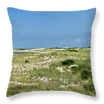 Throw Pillow featuring the photograph Cape Henlopen State Park - The Point - Delaware by Brendan Reals
