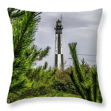 Cape Henry Light From The Dune Throw Pillow