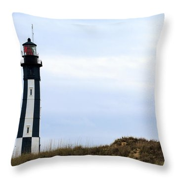 Cape Henry Lighthouse Throw Pillow