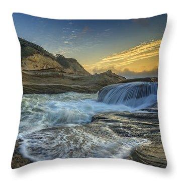 Cape Kiwanda Throw Pillow by Rick Berk