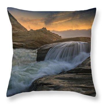 Cape Kiwanda Tides Throw Pillow