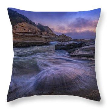 Cape Kiwanda Twilight Throw Pillow
