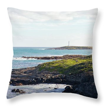 Throw Pillow featuring the photograph Cape Leeuwin Lighthouse by Ivy Ho