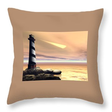 Cape Lookout Throw Pillow by Corey Ford