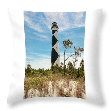 Cape Lookout Light No 2 Throw Pillow