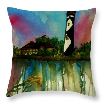 Cape Lookout Throw Pillow by Lil Taylor