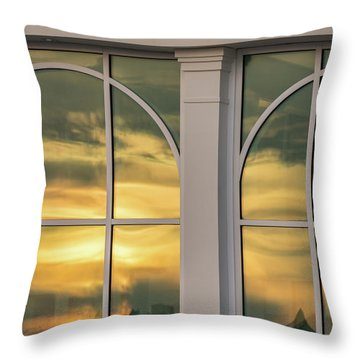 Cape May Abstract Sunset Reflection Throw Pillow
