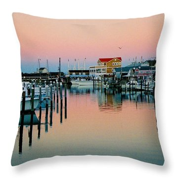 Throw Pillow featuring the photograph Cape May After Glow by Steve Karol