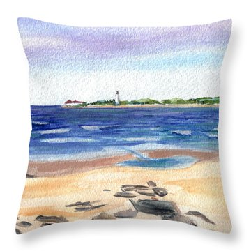 Cape May Beach Throw Pillow