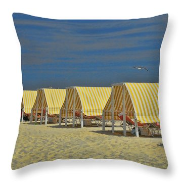 Cape May Cabanas 6 Throw Pillow