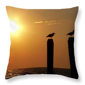 Cape May Morning Throw Pillow by JAMART Photography