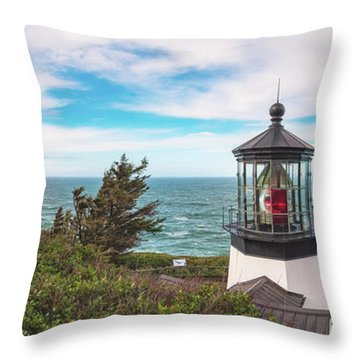 Throw Pillow featuring the photograph Cape Meares Bright by Darren White