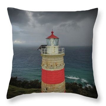 Throw Pillow featuring the photograph Cape Moreton Light by Keiran Lusk