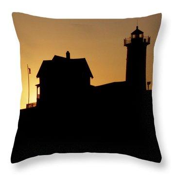 Cape Neddick-nubble Light Throw Pillow