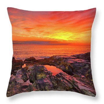 Cape Neddick Sunrise Throw Pillow