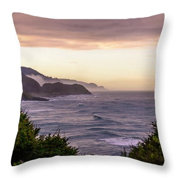 Cape Perpetua, Oregon Coast Throw Pillow