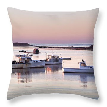 Cape Porpoise Harbor Panorama Throw Pillow