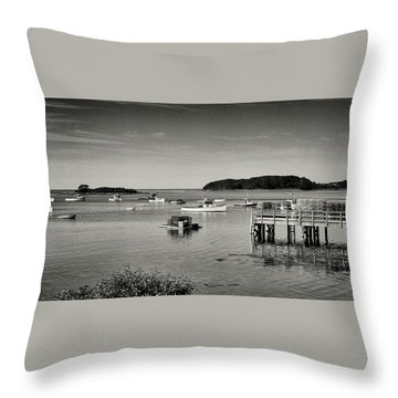 Cape Porpoise Harbor Throw Pillow