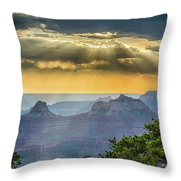 Cape Royal Crepuscular Rays Throw Pillow