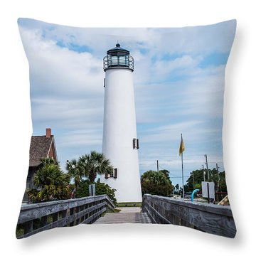 Cape St. George Lighthouse Throw Pillow