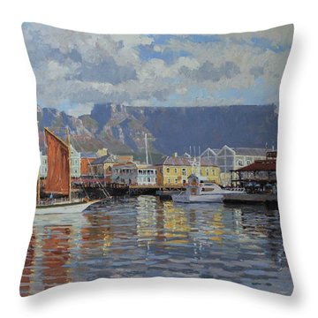 Cape Town Waterfront Throw Pillow