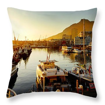 Cape Town's Waterfront Throw Pillow by Michael Edwards