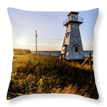 Throw Pillow featuring the photograph Cape Tryon Light by Chris Bordeleau