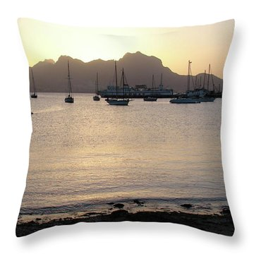 Cape Verde Sunset Throw Pillow