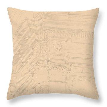 Capilla Real Entablature, Granada Throw Pillow