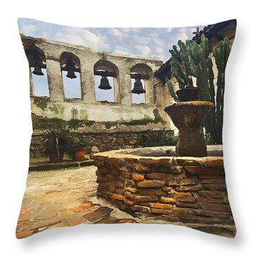 Capistrano Fountain Throw Pillow