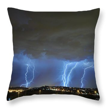 Capital City Lightning Throw Pillow