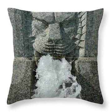 Senate Fountain Lion Throw Pillow