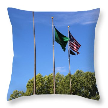 Capital Hill Olympia Washington Flags Throw Pillow