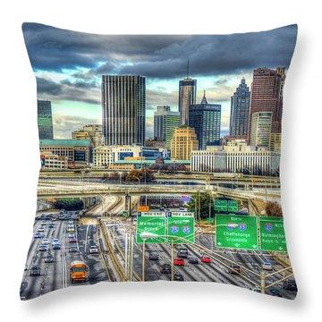 Capital Of The South Atlanta Skyline Cityscape Art Throw Pillow