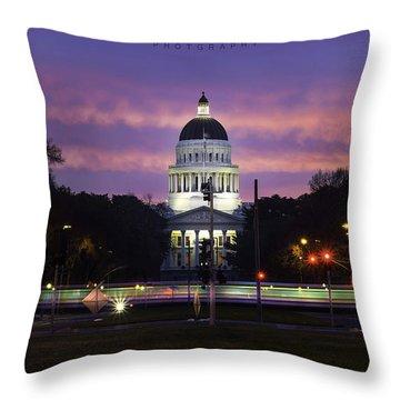 Capital Sunrise Throw Pillow