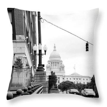 Capital View Throw Pillow