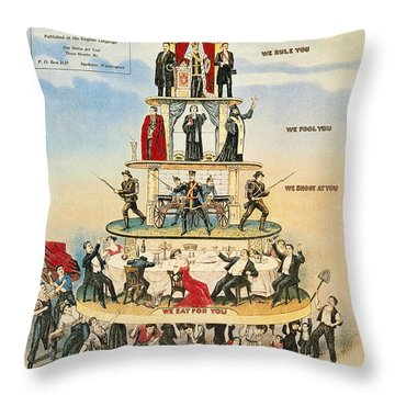 Capitalist Pyramid, 1911 Throw Pillow