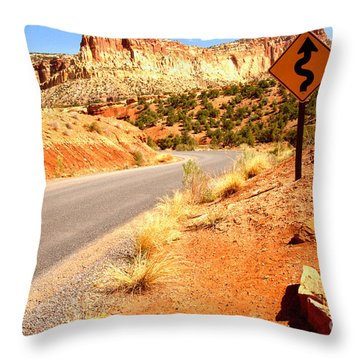 Throw Pillow featuring the photograph Capitol Curves Ahead by Adam Jewell