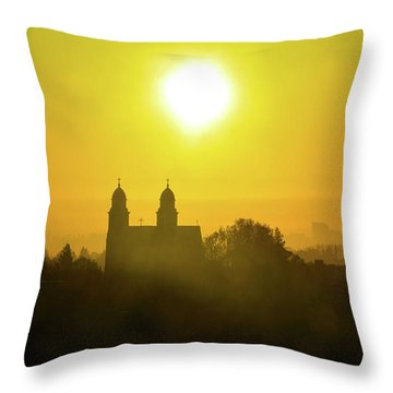 Capitol Hill Sunrise   Throw Pillow