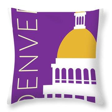 Denver Capitol/purple Throw Pillow