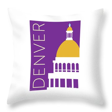 Denver Capitol/purple Throw Pillow