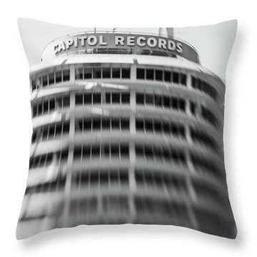 Throw Pillow featuring the photograph Capitol Records Building 18 by Micah May