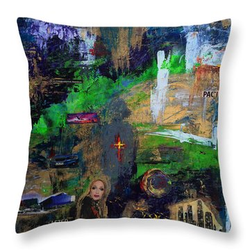 Capitol Records The Pacific Design Center And Palm Springs Throw Pillow