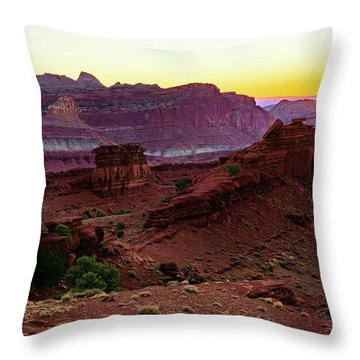 Capitol Reef Sunrise Throw Pillow