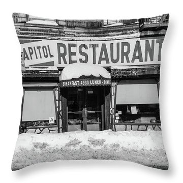 Capitol Restaurant Throw Pillow