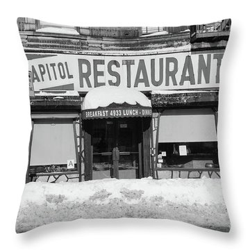 Capitol Winter Throw Pillow by Cole Thompson